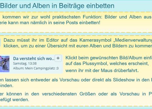 3/3 Bilder und Alben in Beiträge einbetten