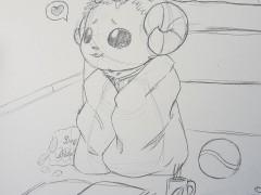 Skizze von Baby Dominik